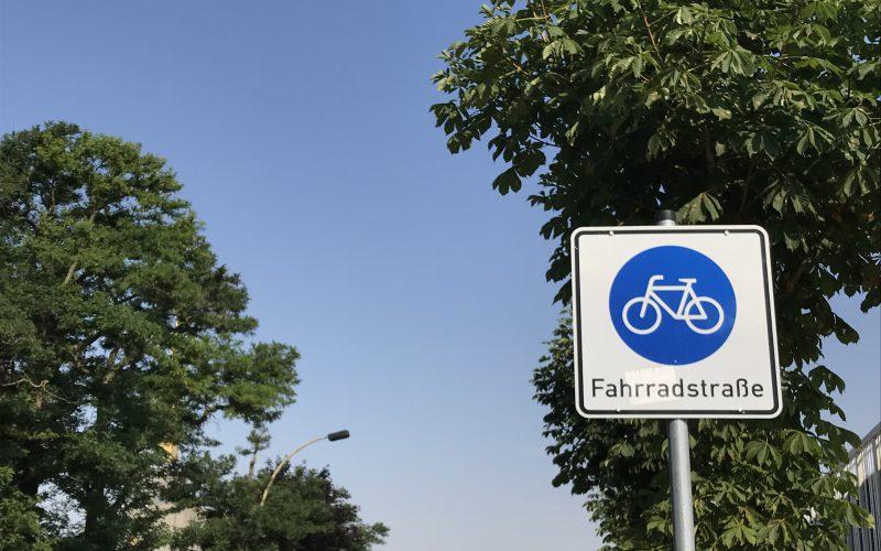 Foto eines Fahrradstraßen-Schilds