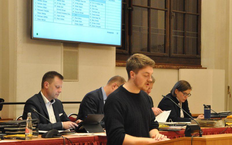 William Rambow spricht im Stadtrat